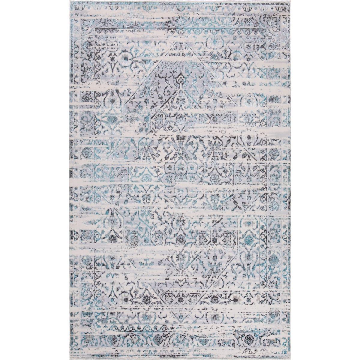 Ковёр «Эрин» 701X, 1.2х1.8 м, цвет бирюзовый
