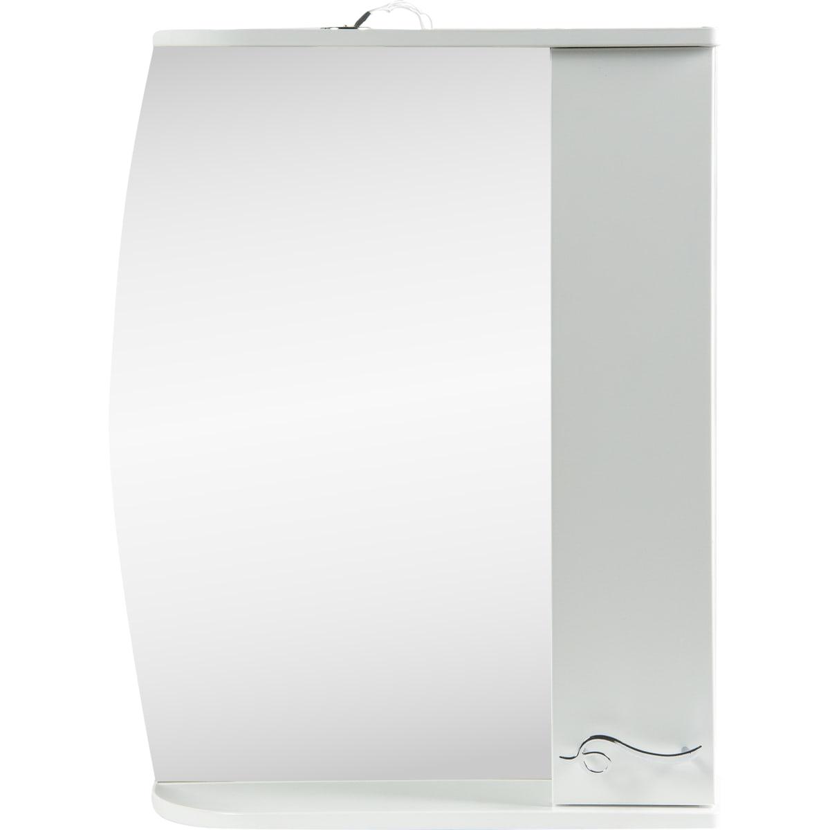 Шкаф зеркальный подвесной «Венеция» 60x72.3 см цвет белый