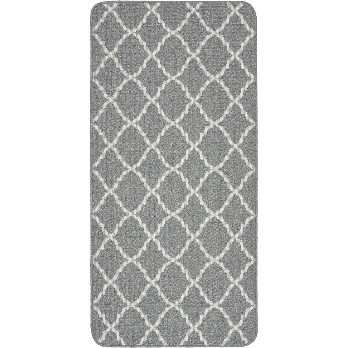 Коврик «Cardiff», 67x140 см, полипропилен/резина, цвет серый