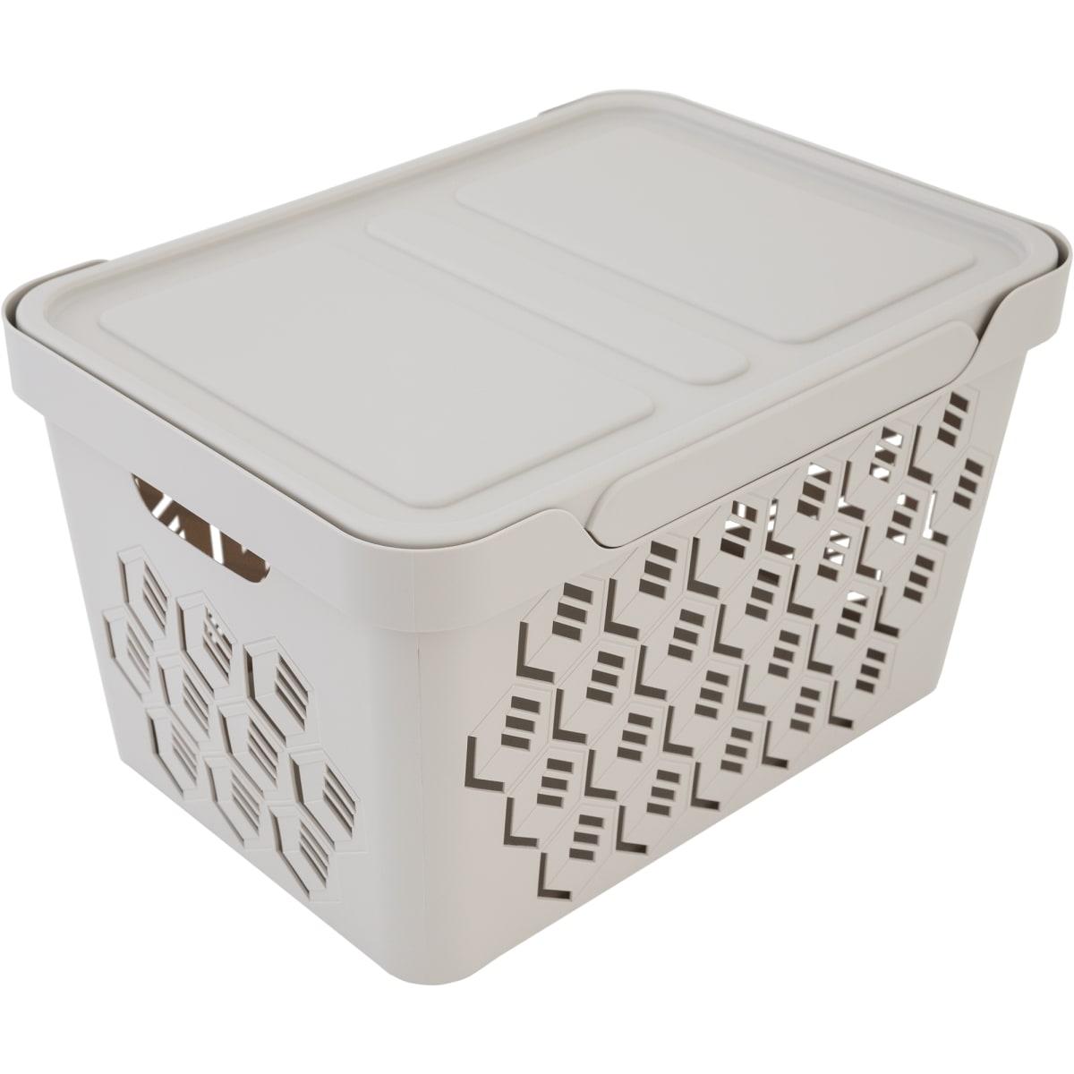 Ящик перфорированный с крышкой 18 л
