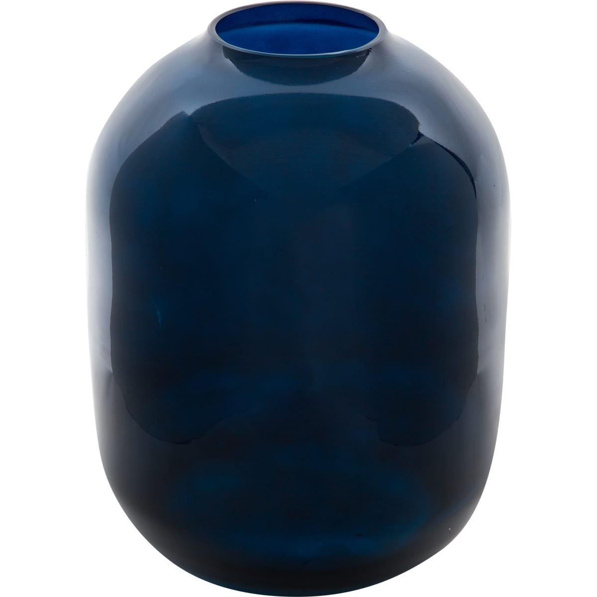 Ваза «Вольга» 2, стекло, цвет тёмно-синий радужный