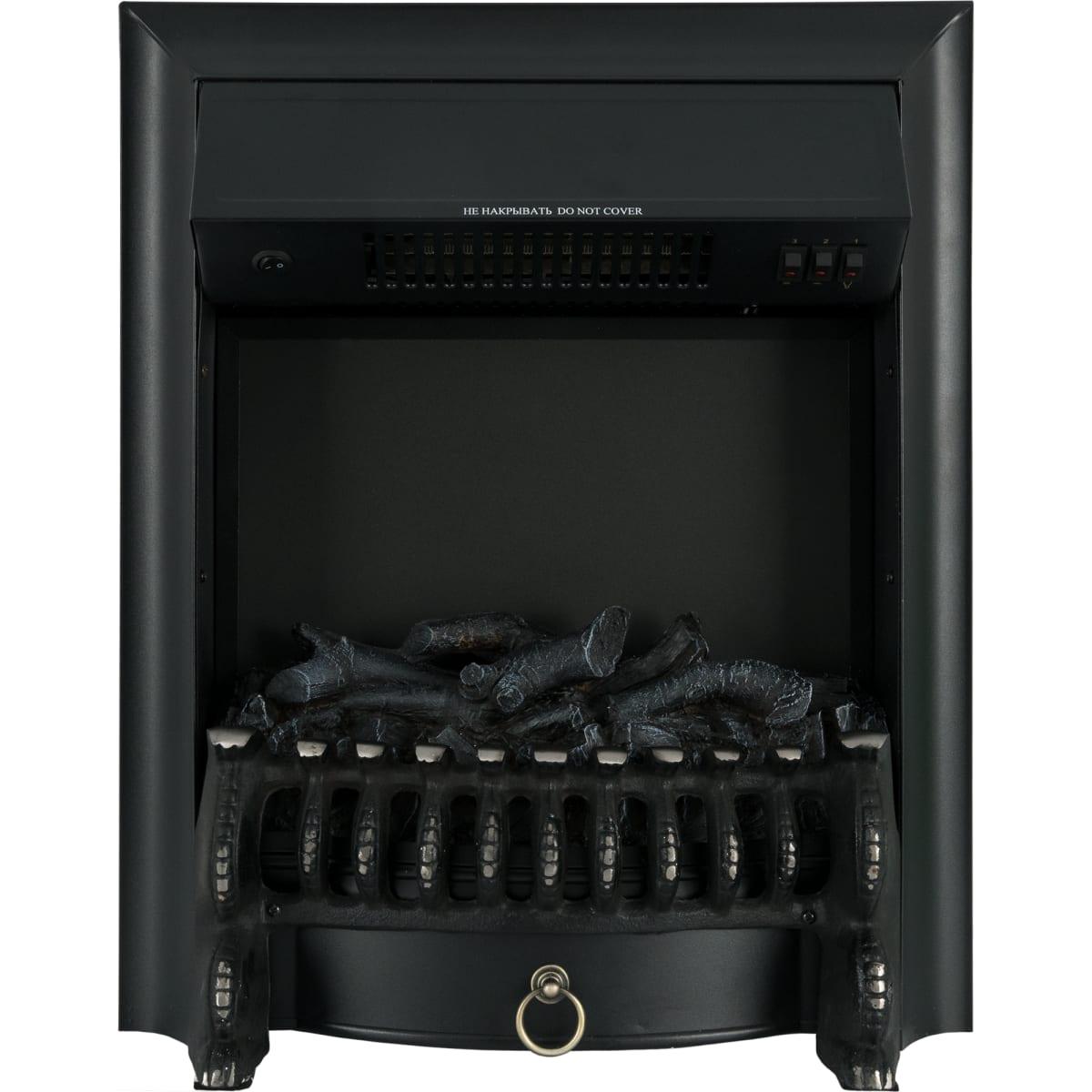 Камин электрический Fobos FX M Black, 2000 Вт