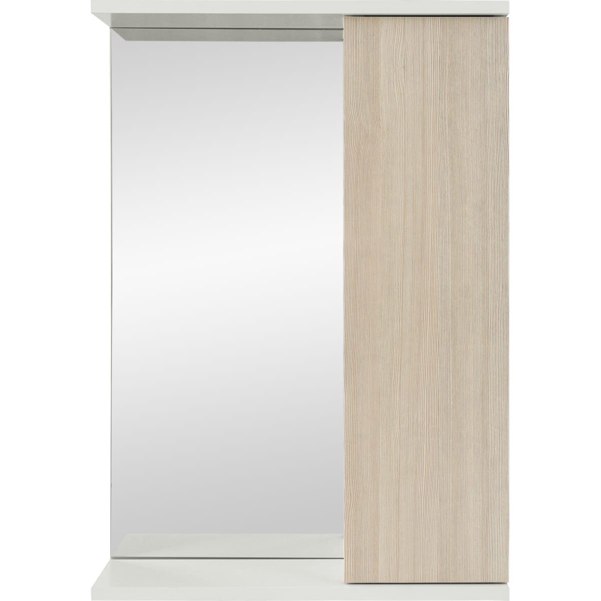 Шкаф зеркальный подвесной «Эстер» 50x72 см цвет бежевый