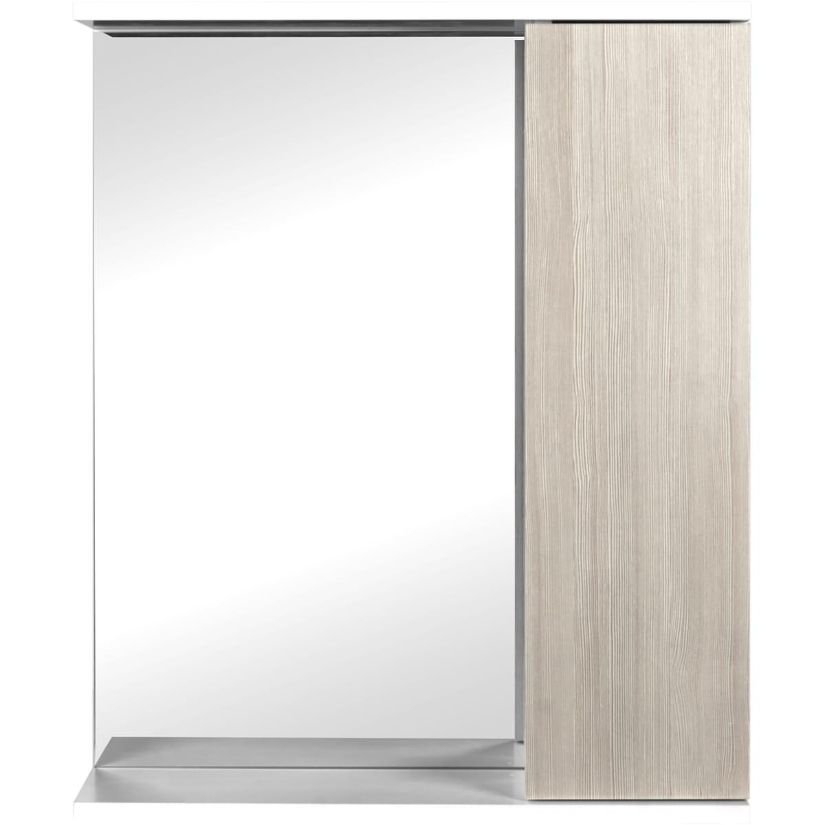 Шкаф зеркальный подвесной «Эстер» 60x75 см цвет бежевый
