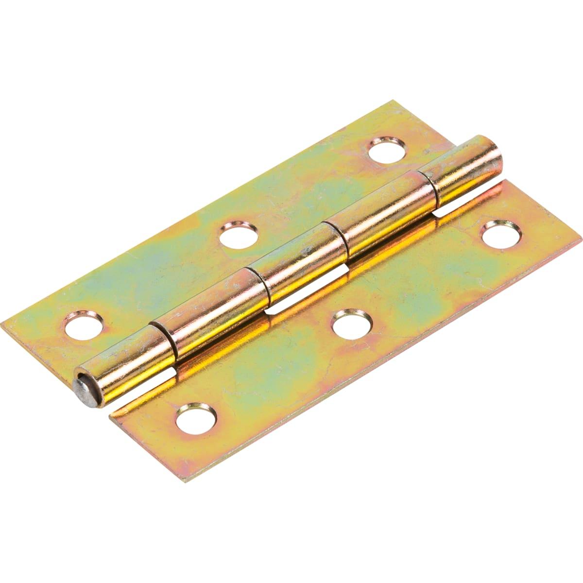 Петля универсальная 85х45 мм, оцинкованная сталь, цвет золотой