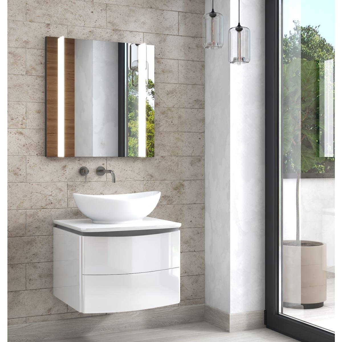 Зеркало Land с подсветкой 60x70 см