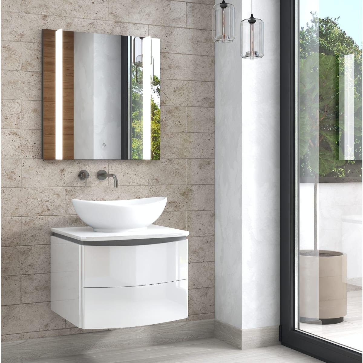 Зеркало Land с подсветкой 70x70 см