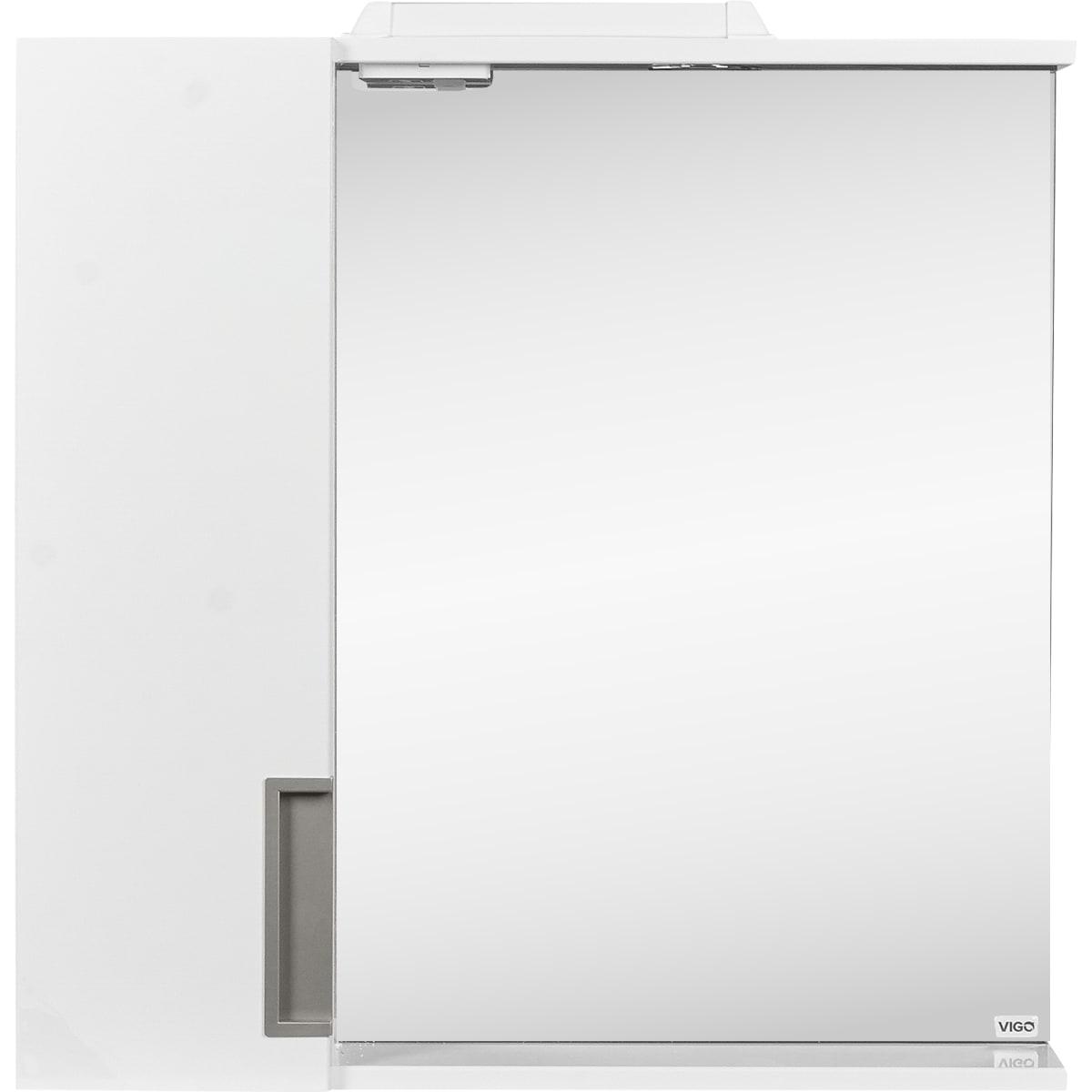 Шкаф зеркальный подвесной «Венто» 70x70 см цвет белый