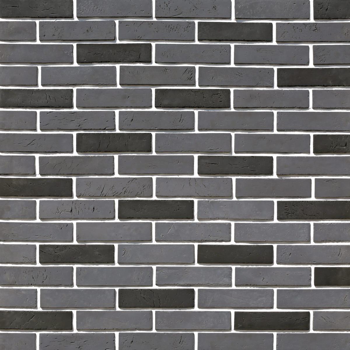 Плитка декоративная Терамо Брик, цвет чёрный, 0.65 м²