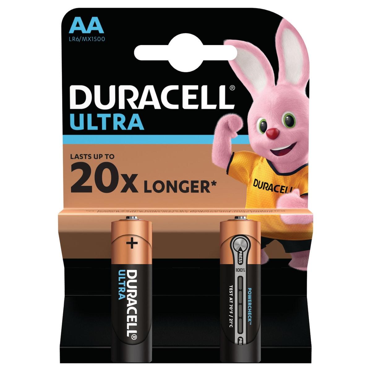 Батарейка алкалиновая Duracell Ultra Power AA, 2 шт.