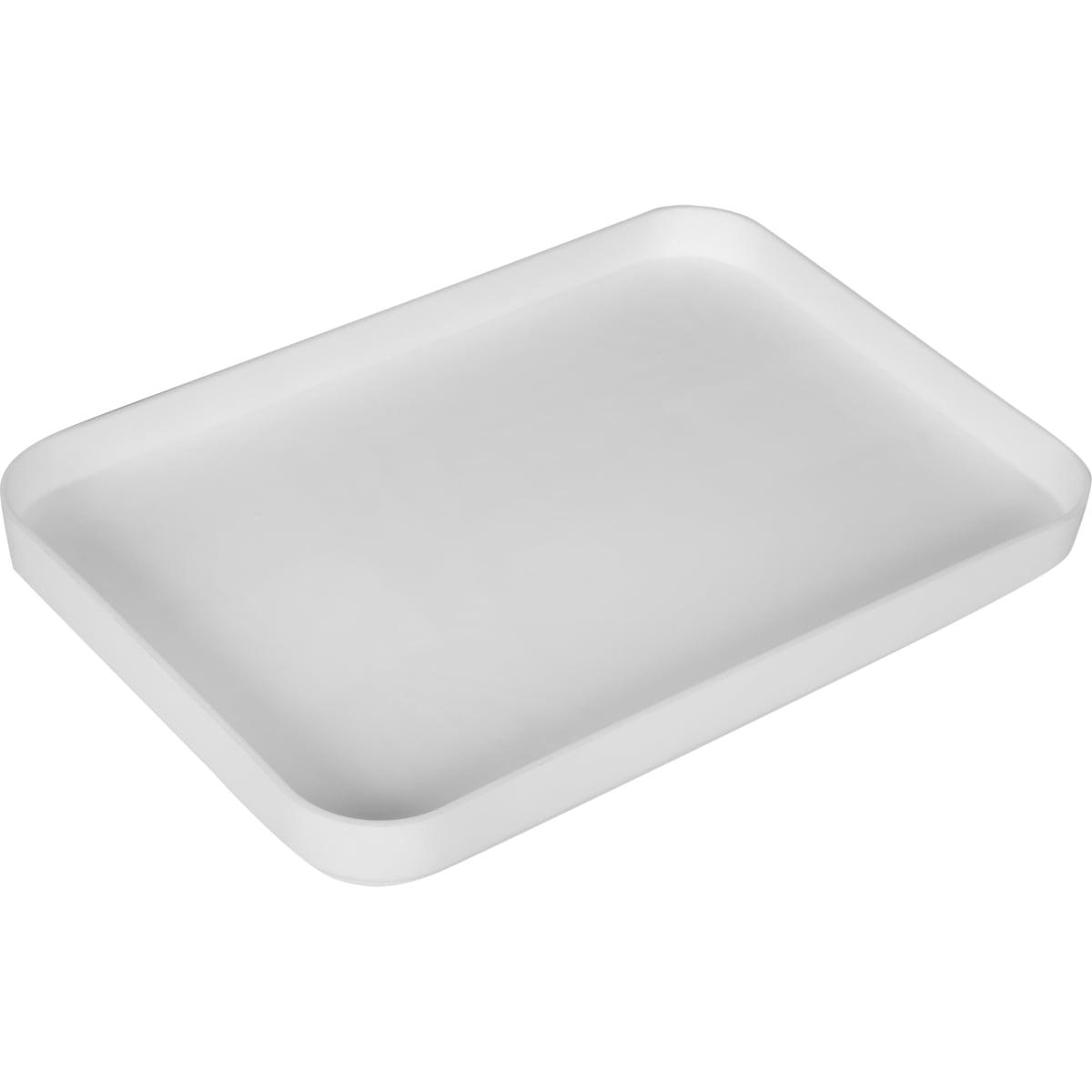 Крышка большая, 158x21x228 мм, пластик, цвет белый