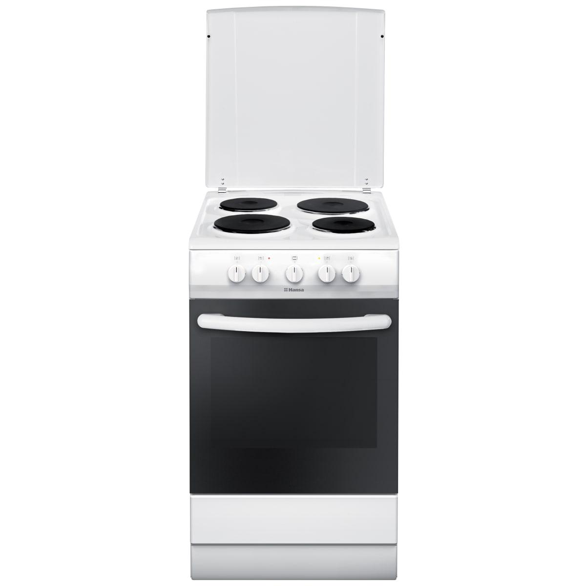 Плита электрическая HANSA FCEW53041, 50 см, эмалированная сталь, цвет белый