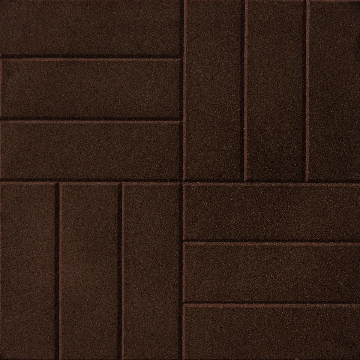 Плитка резиновая 500х500х30 мм паркет пуансон коричневый
