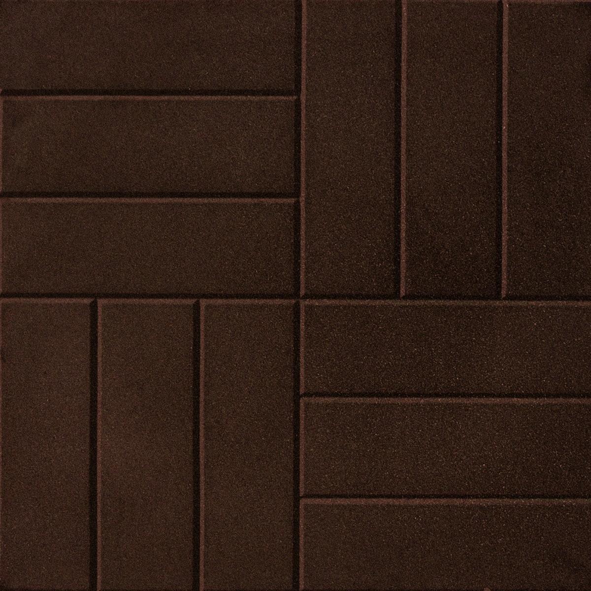 Плитка резиновая 500х500х30 паркет коричневый