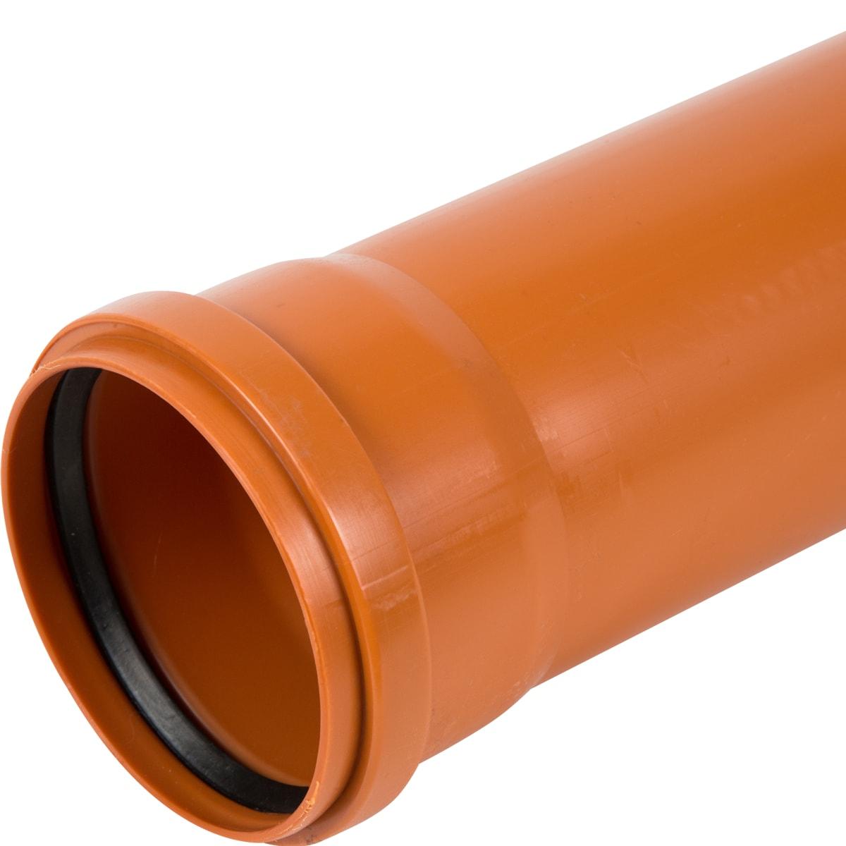 Труба раструбная наружная Пиарком SN2 110x1000 мм