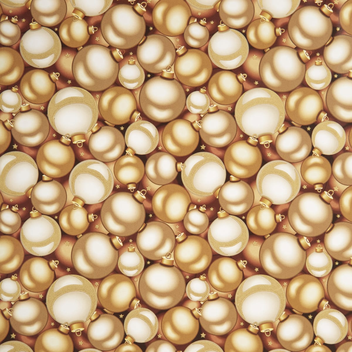 Бумага упаковочная «Золотые шары» 70x100 см