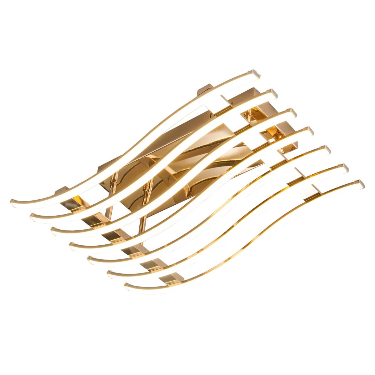 Люстра потолочная светодиодная Avery 90091/7, 39 м², белый свет, цвет золото