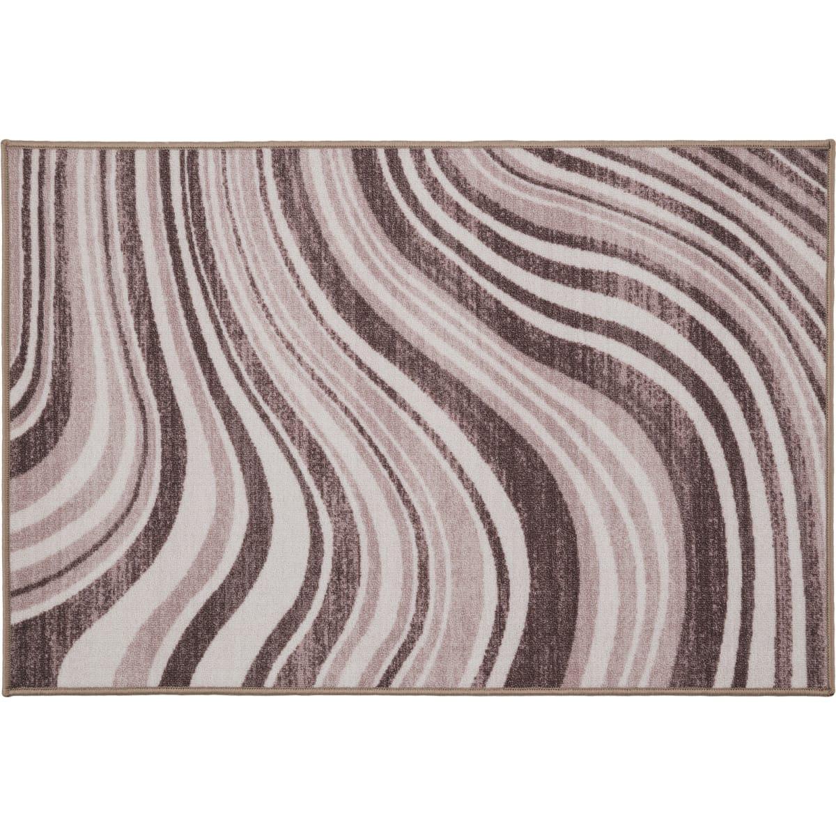 Коврик «Адриана», 80x120 см, нейлон, цвет коричневый