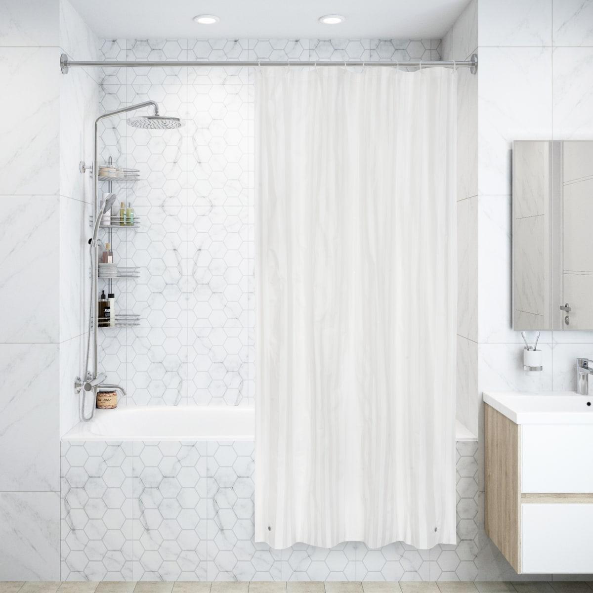 Штора для ванны Банги с кольцами 120х200 см, полиэтиленвинилацетат, цвет белый