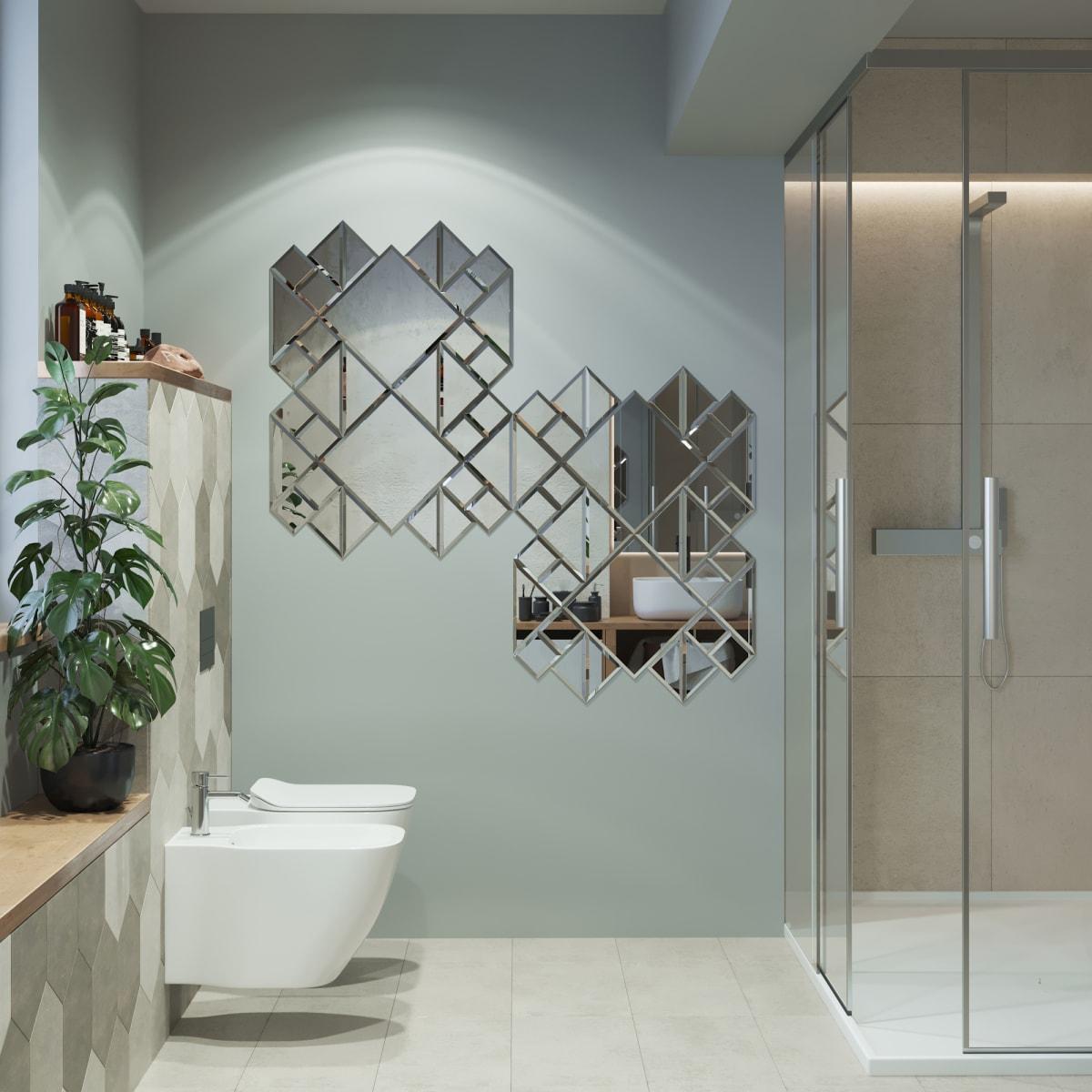 Плитка зеркальная Sensea треугольная 15x15 см 1 шт.