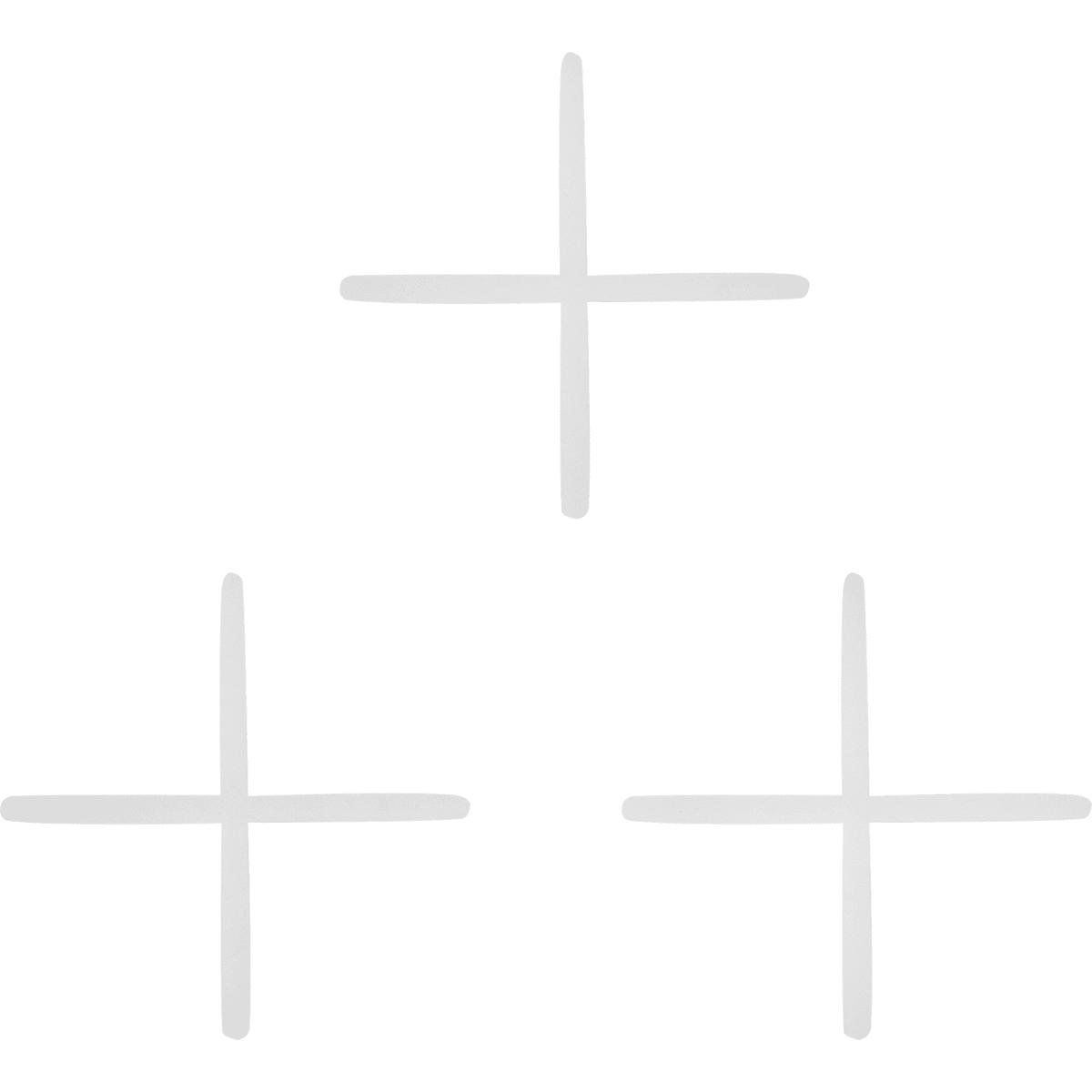 Крестики для кафельной плитки, 1 мм, 100 шт.