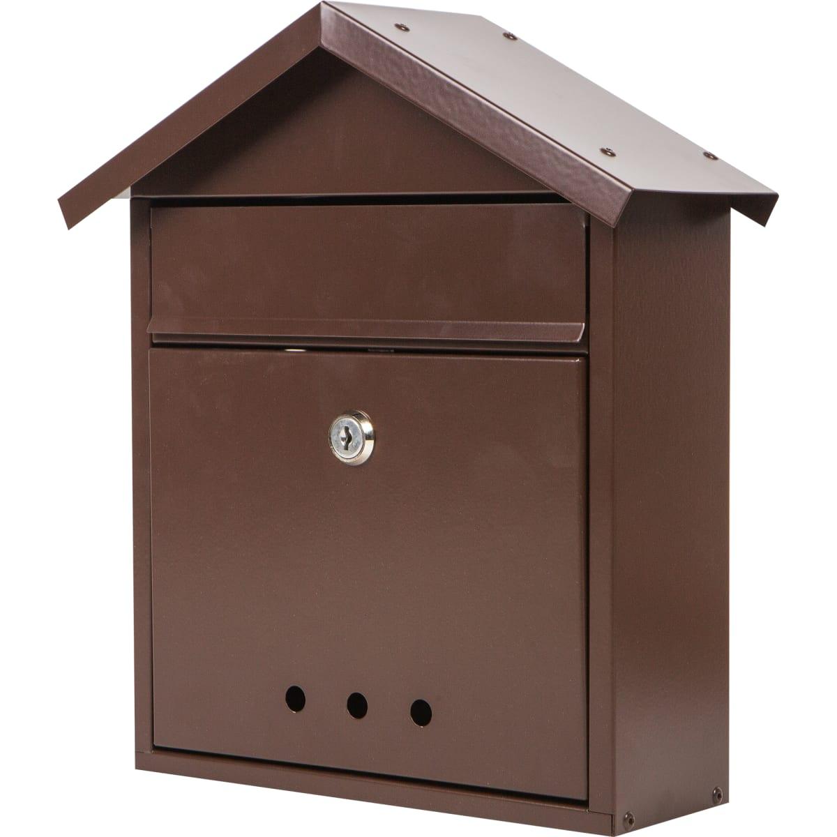 Почтовый ящик «Домик», сталь, цвет серый