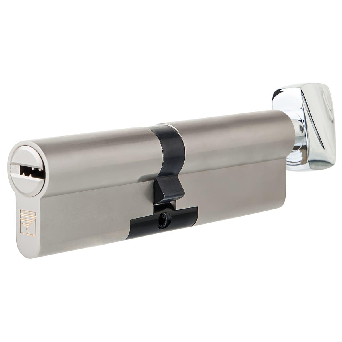 Цилиндр Apecs Premier XR-110(50/60C)-C15-NI, 50x60 мм, ключ/вертушка, цвет никель