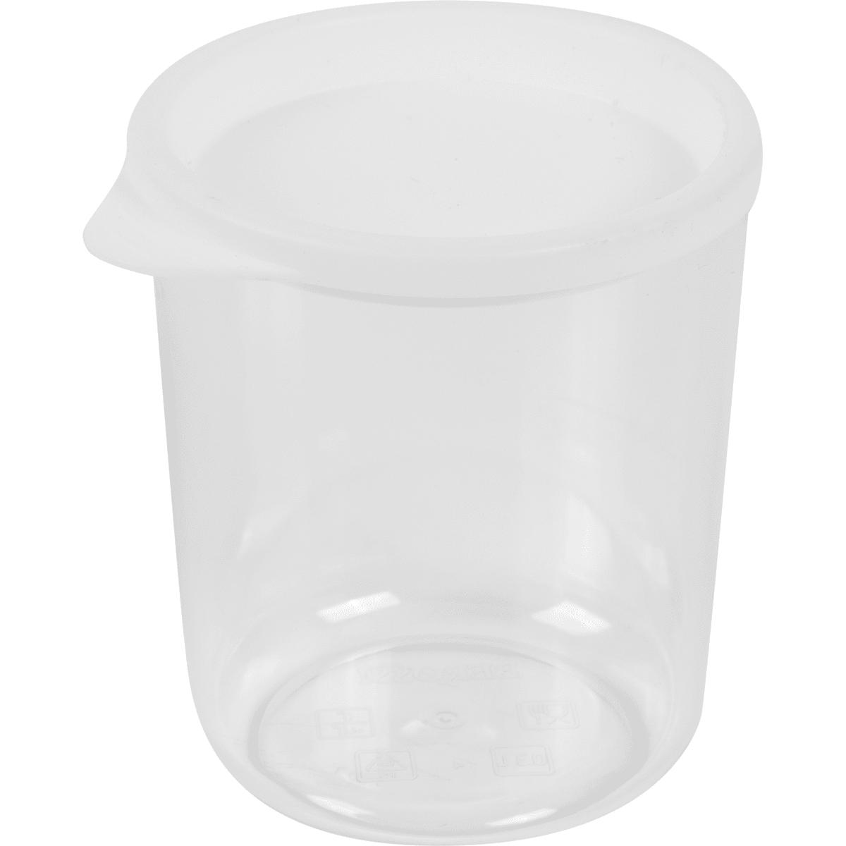 Банка для сыпучих продуктов 0.3 л, цвет белый