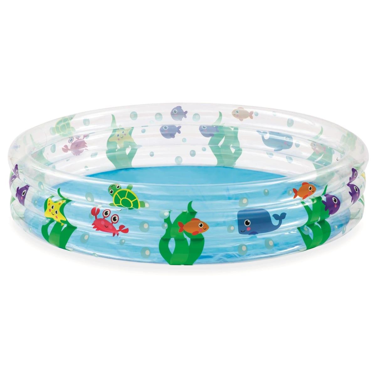 Бассейн надувной круглый детский Bestway Подводный мир 152x152x30 см 282 л
