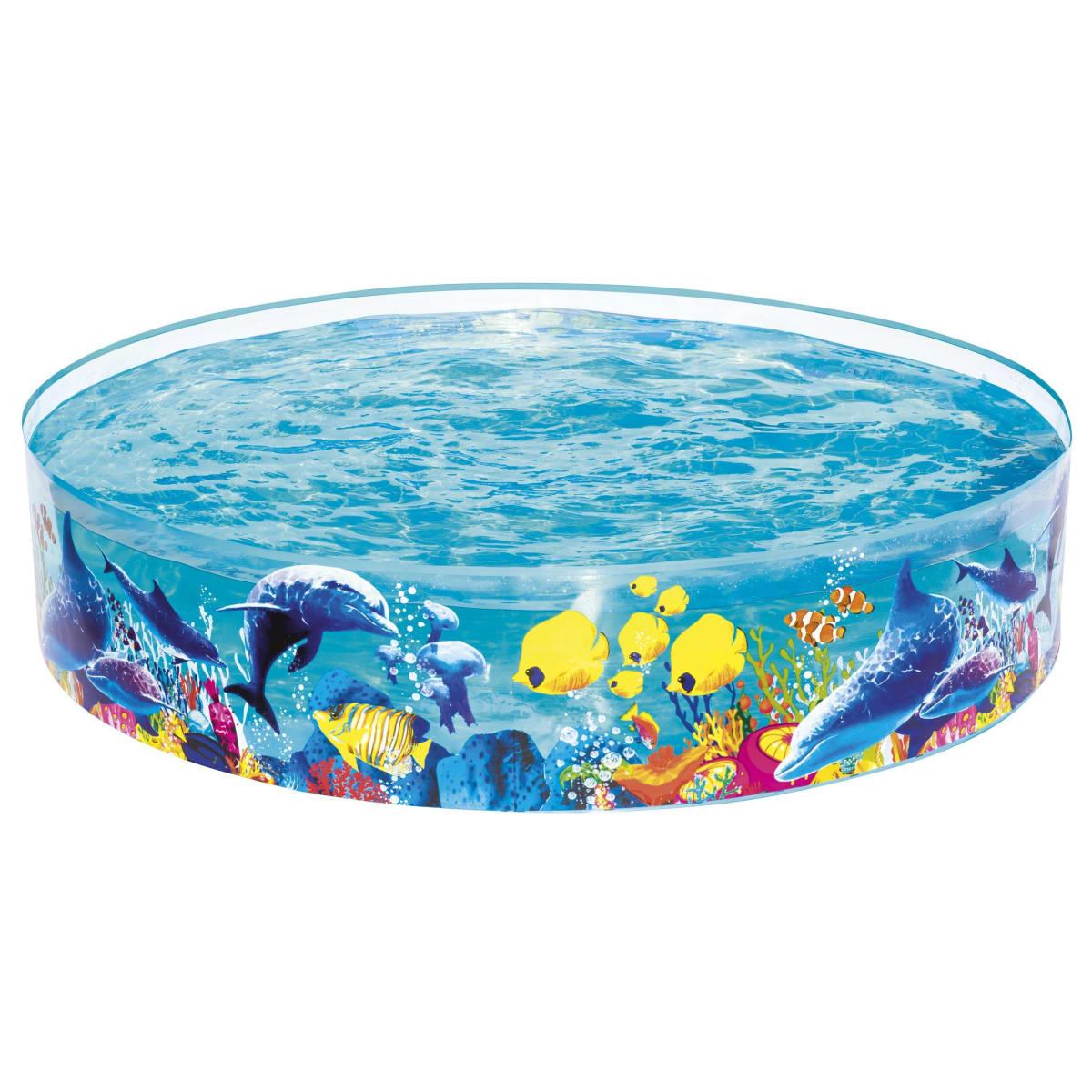 Бассейн надувной круглый детский Bestway Fill-n-Fun Odyssey183x183x38 см 946 л