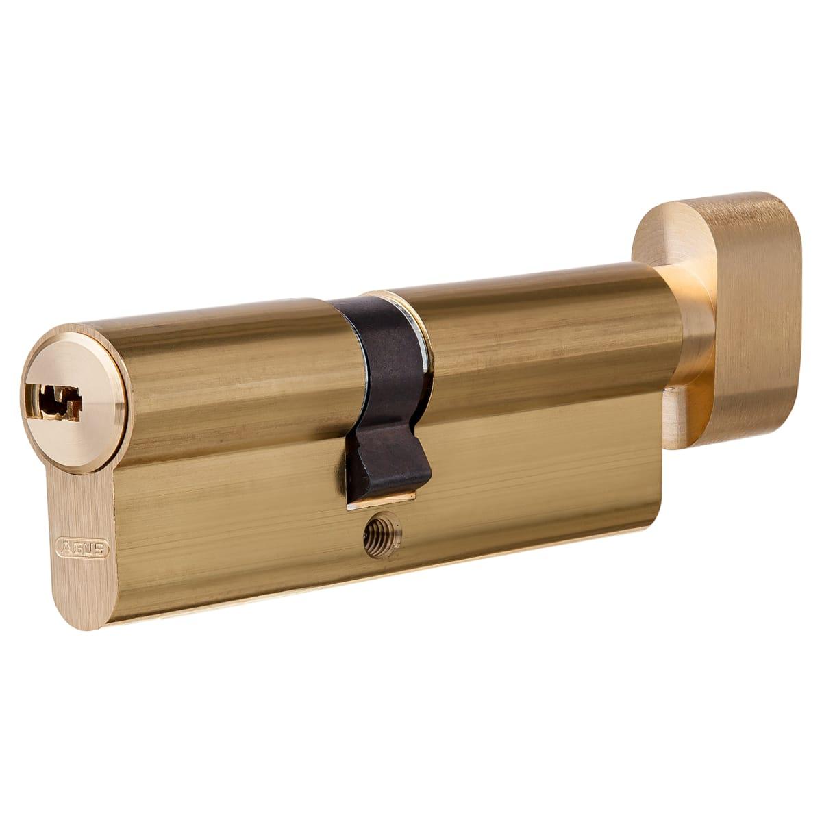 Цилиндр Abus 35х45 мм, ключ/вертушка, цвет золото