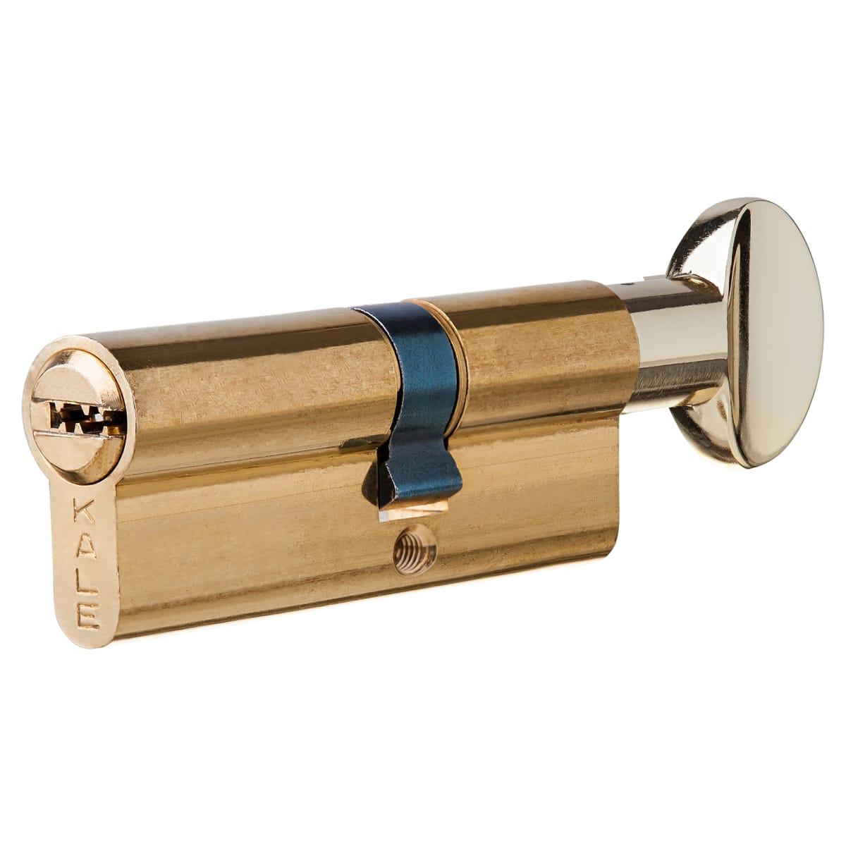 Цилиндр Kale 164SM-80-C-BP, 40х30 мм, ключ/вертушка, цвет золото