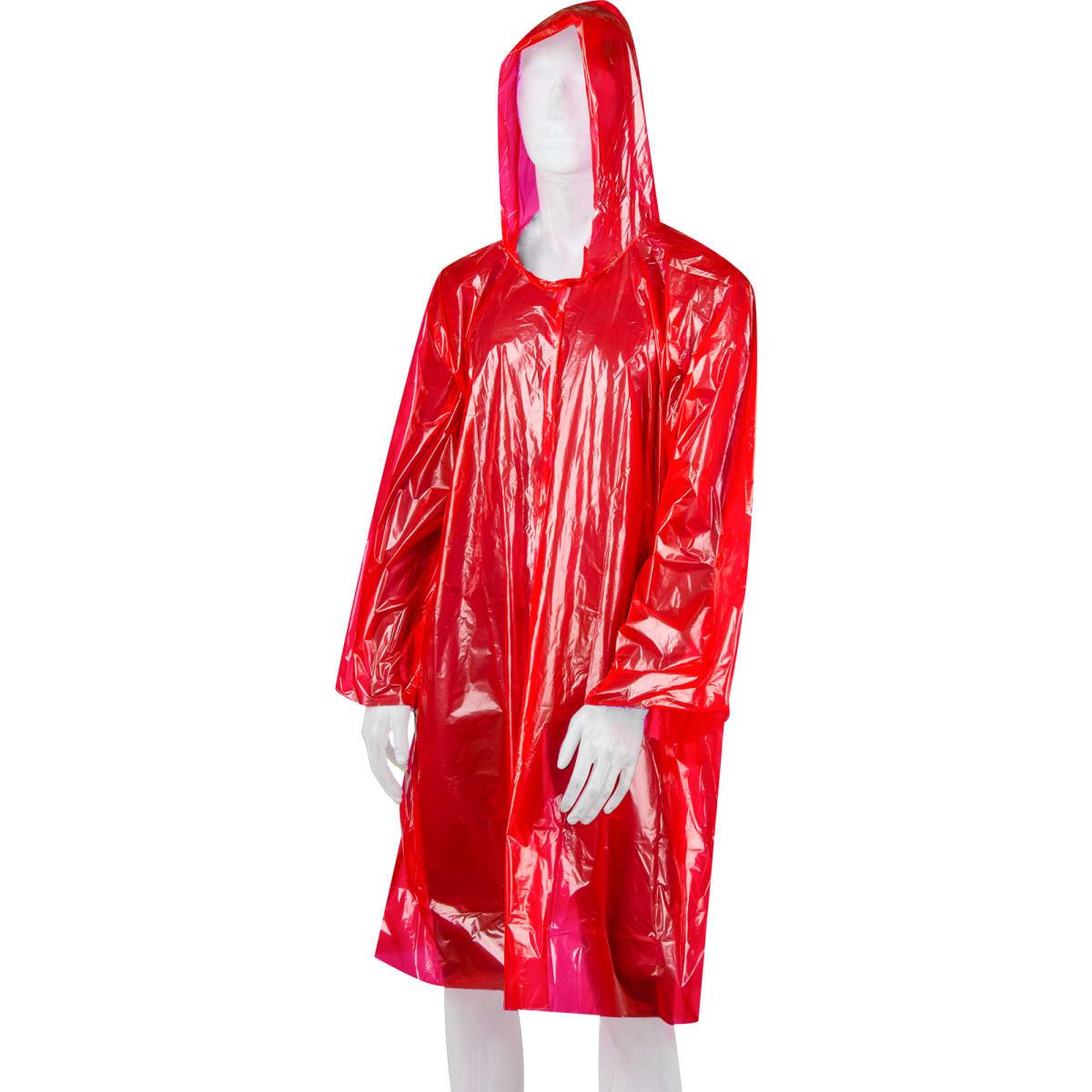 Плащ-дождевик взрослый, цвет красный