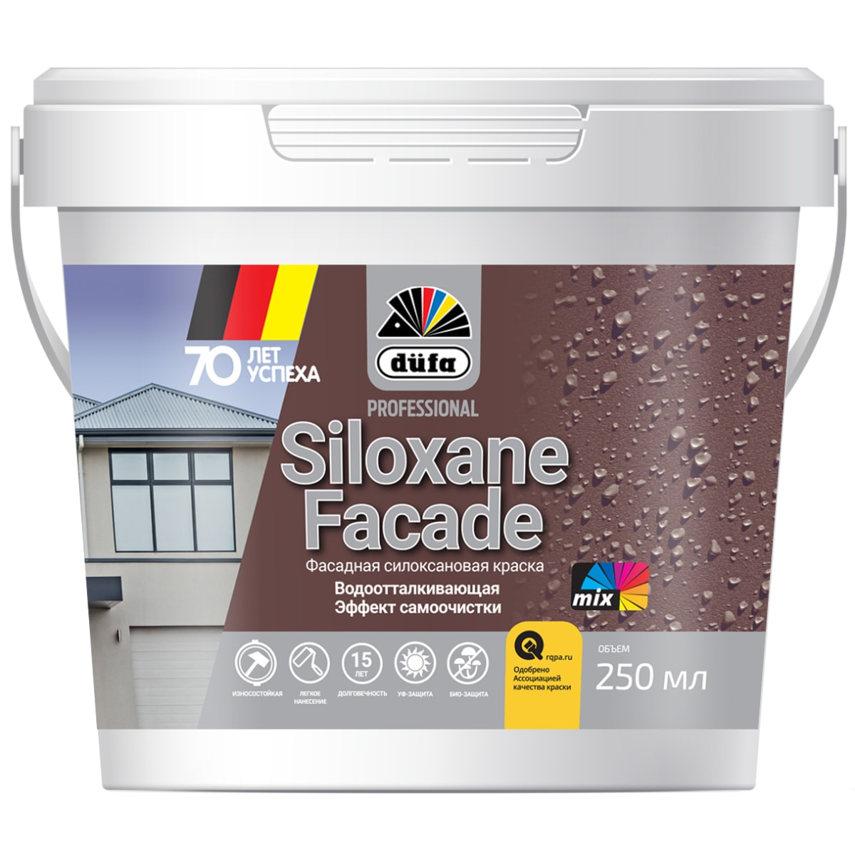 Краска для фасадов Dufa Siloxane Facade 0.25 л