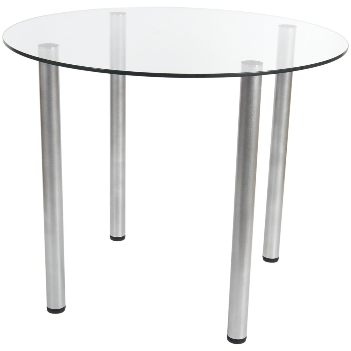 Стол кухонный круглый Версаль, 4 персоны, d90 см, стекло