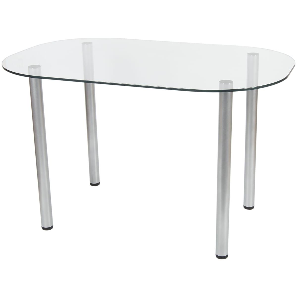Стол кухонный овальный Тулуза, 4 персоны, 119x75см, стекло