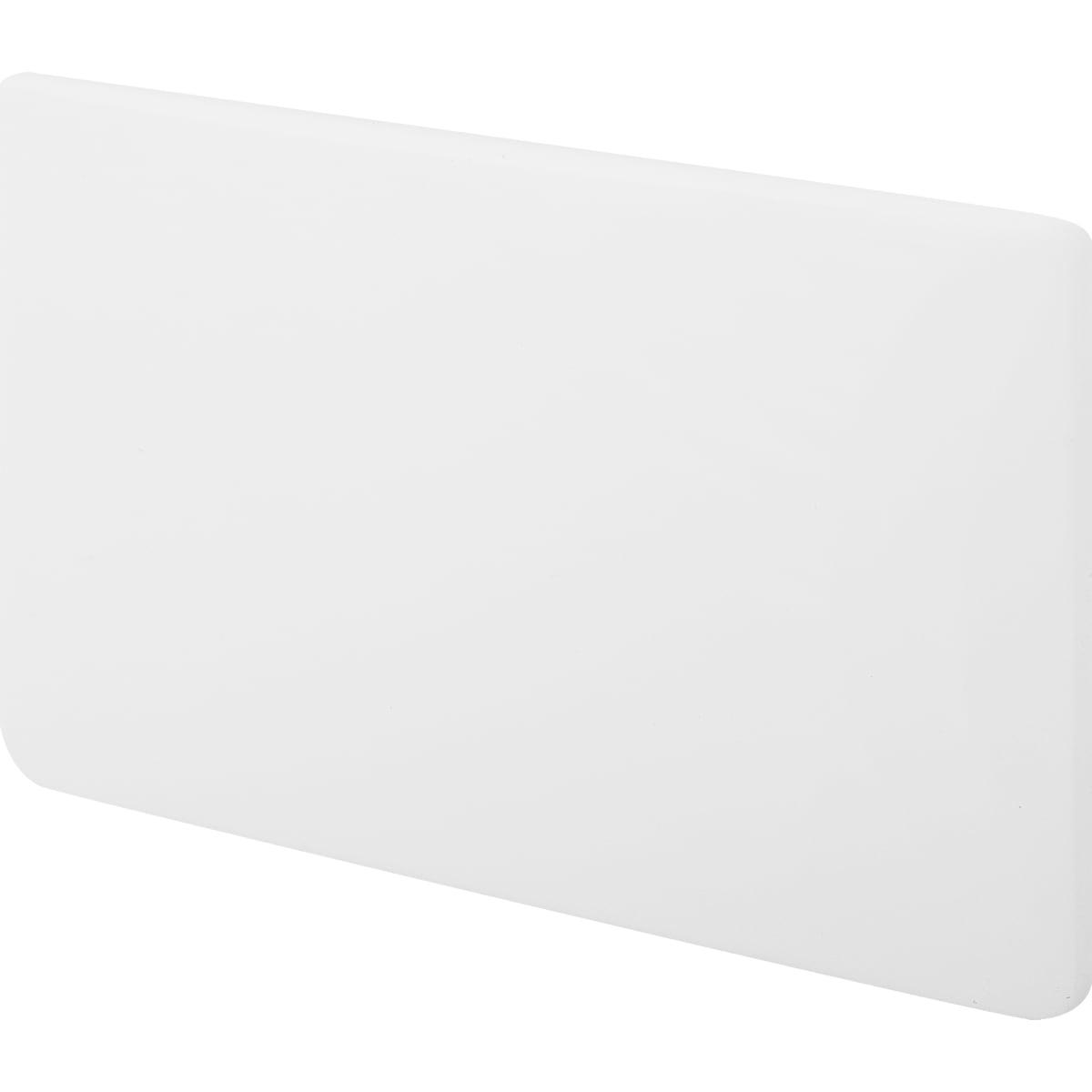 Крышка выпуска «Лайн» цвет белый