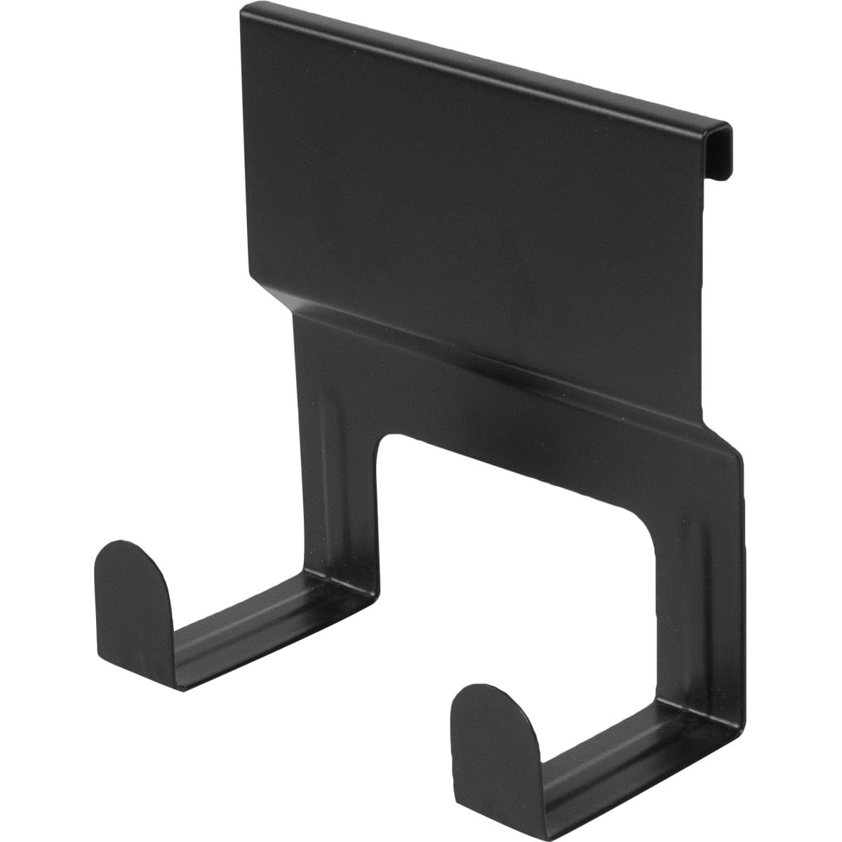 Крючок двойной Lund для рейлинга цвет чёрный