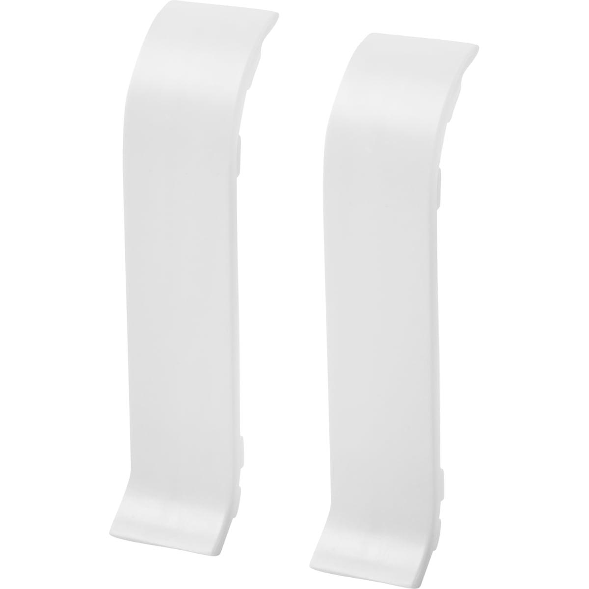 Соединитель для плинтуса «Белый», высота 60 мм, 2 шт.