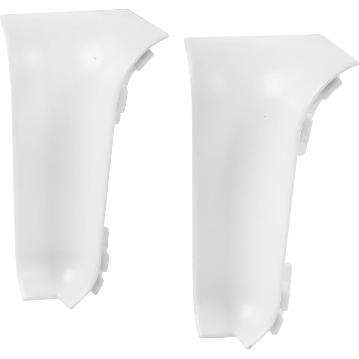 Угол для плинтуса внутренний «Белый», высота 60 мм, 2 шт.