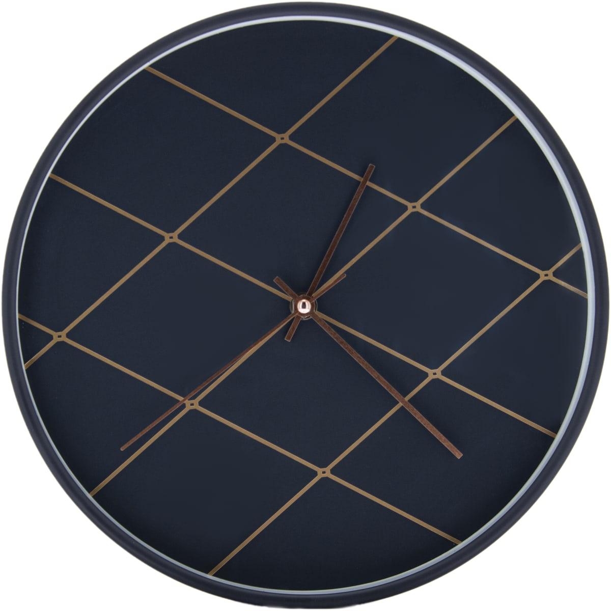 Часы настенные «Ромбы в темном» 30 см