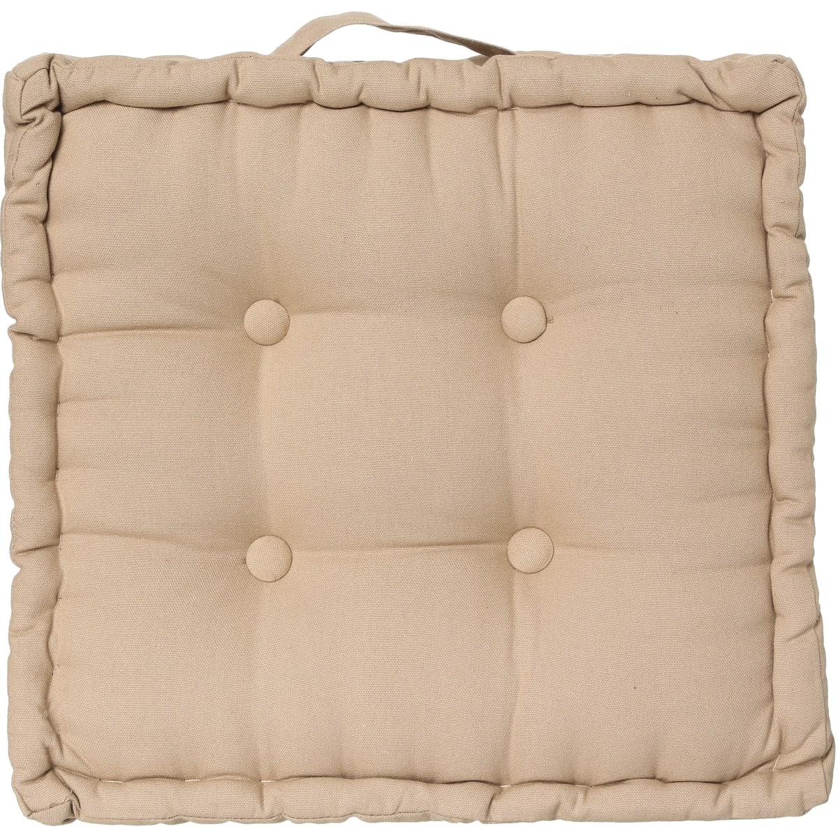 Подушка напольная 40x40 цвет бежевый