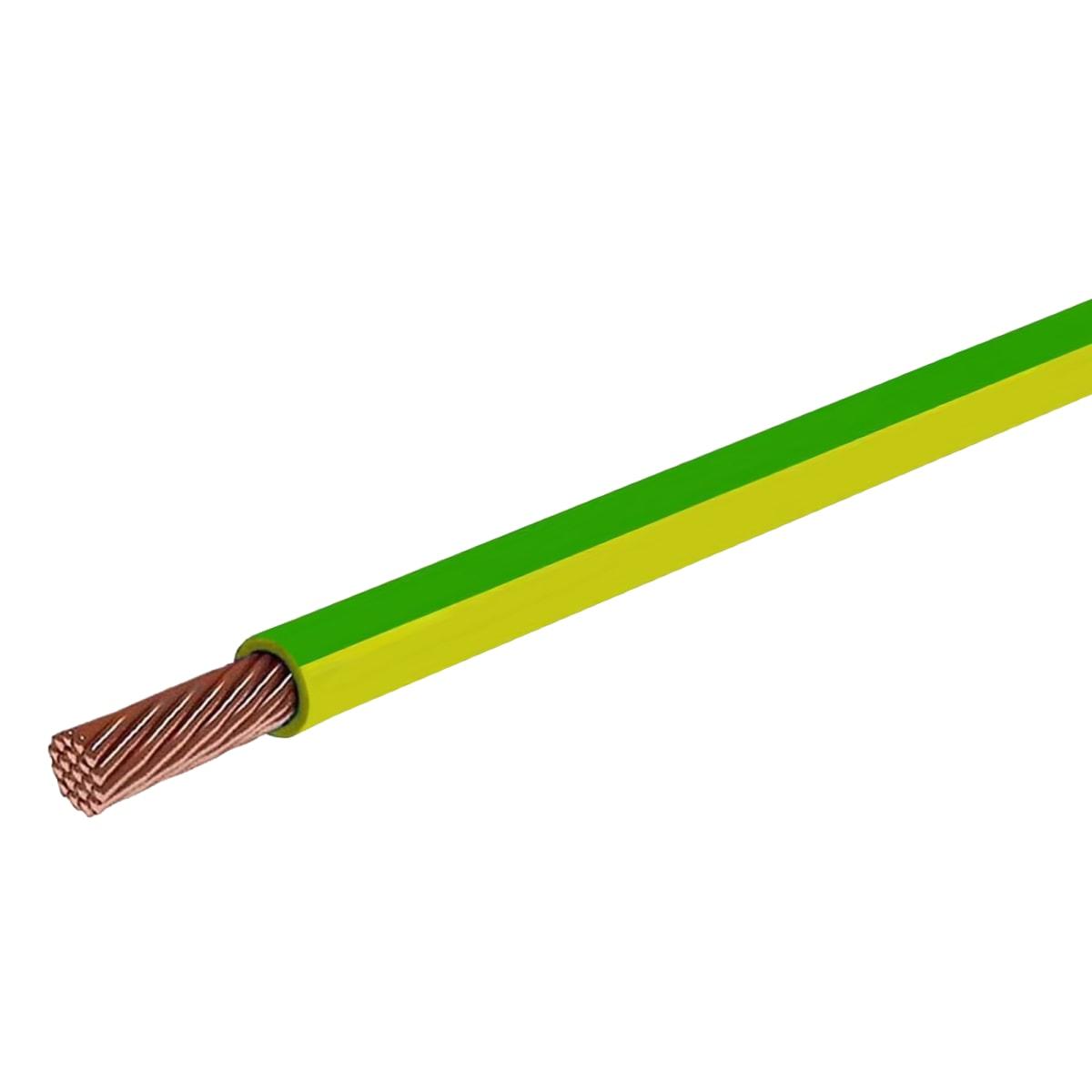 Провод Electraline ПуГВ 1x2.5, на отрез, цвет желто-зеленый