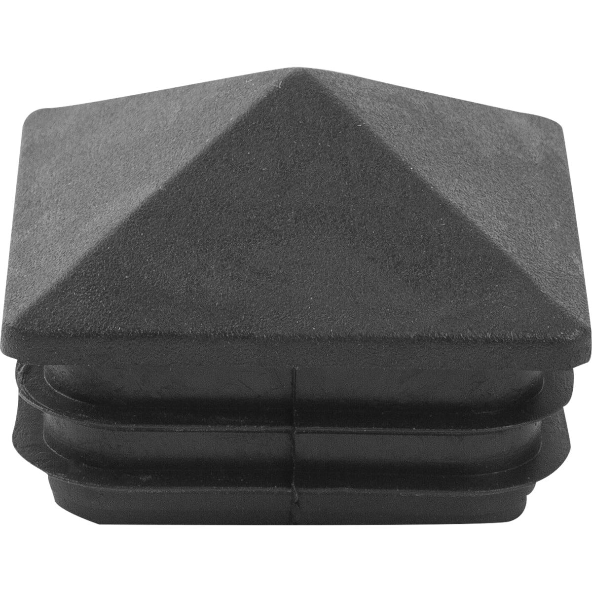 Заглушка 50х50 мм внутренняя домик черная 2 шт.