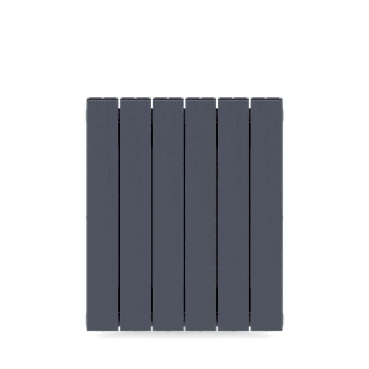 Радиатор биметаллический Rifar Supremo 500, 6 секций, цвет серый