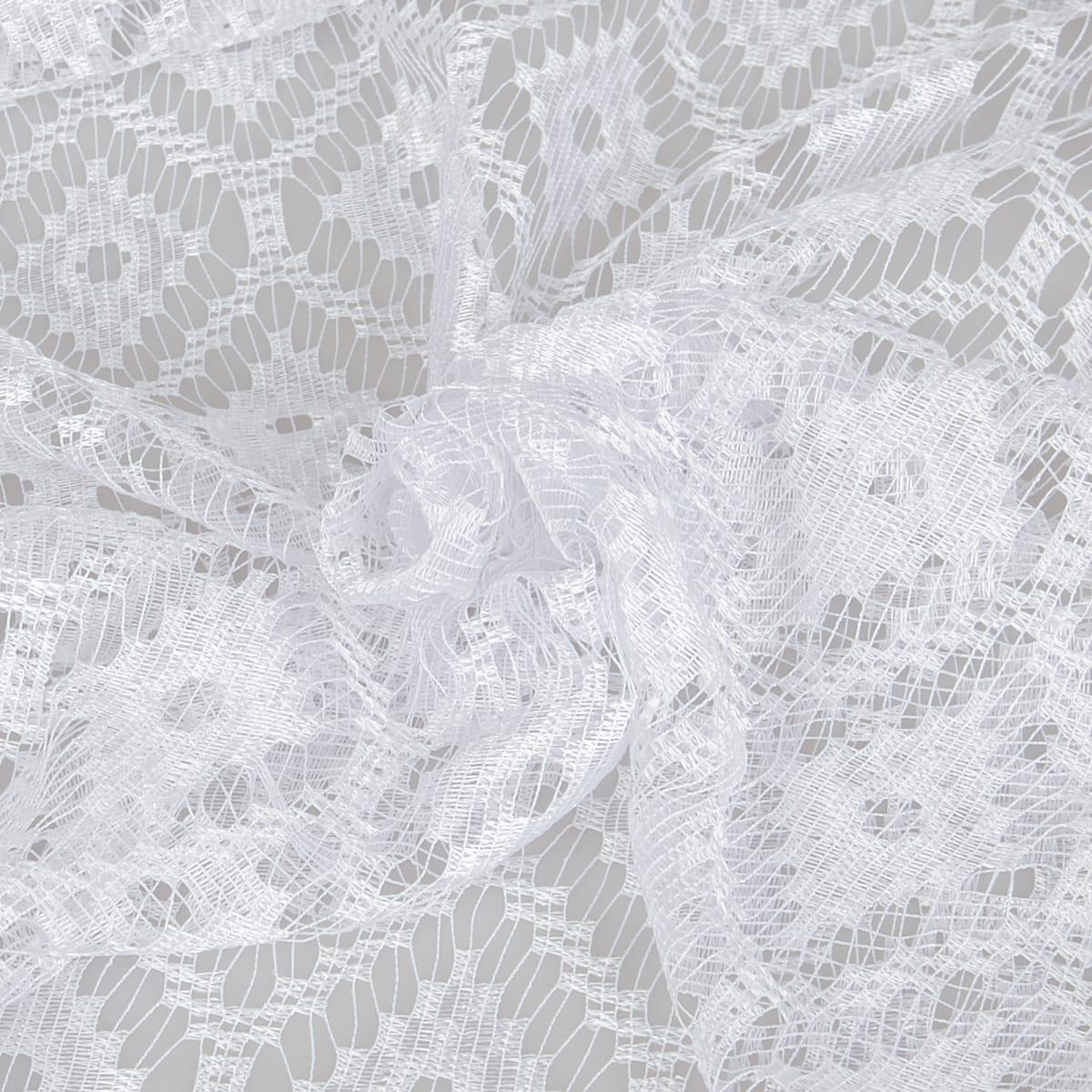 Тюль п/м сетка жаккард 150 см цвет белый