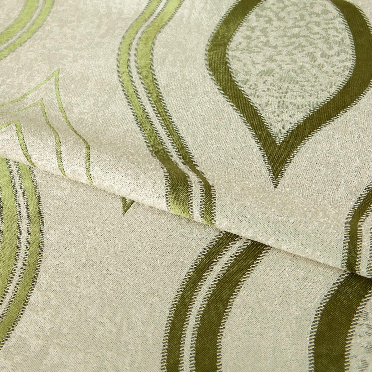 Ткань димаут «Витражный», 280 см, вензель, цвет зелёный
