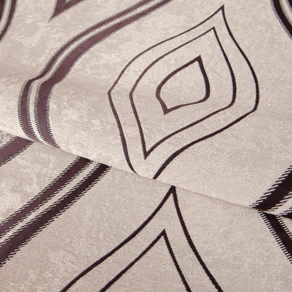 Ткань димаут «Витражный», 280 см, вензель, цвет венге