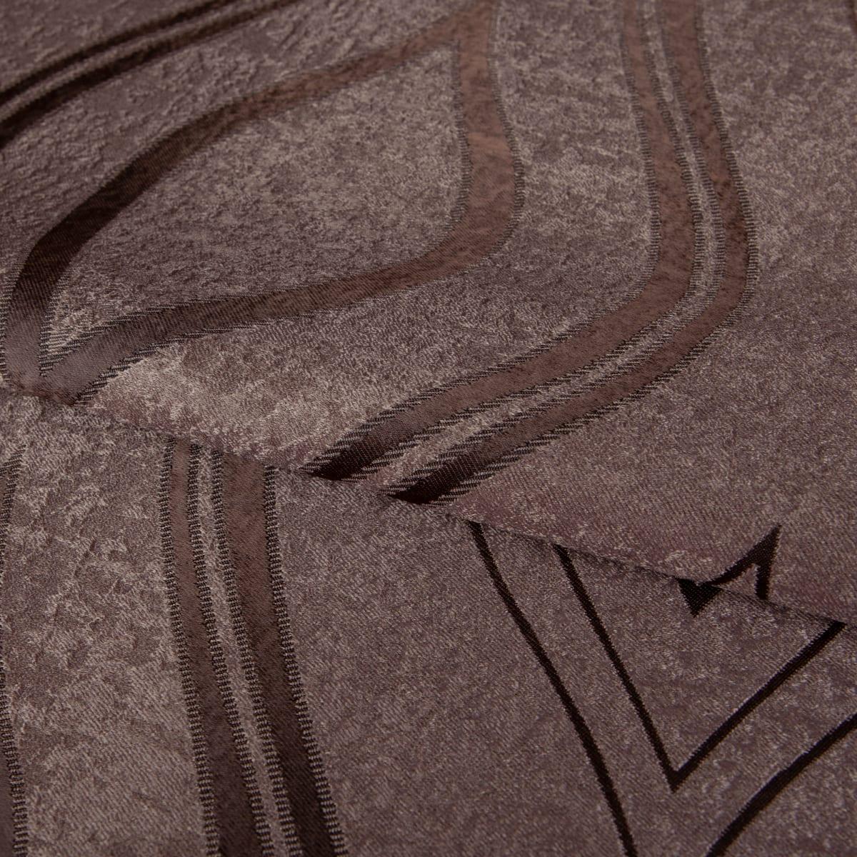 Ткань димаут «Витражный», 280 см, вензель, цвет шоколад