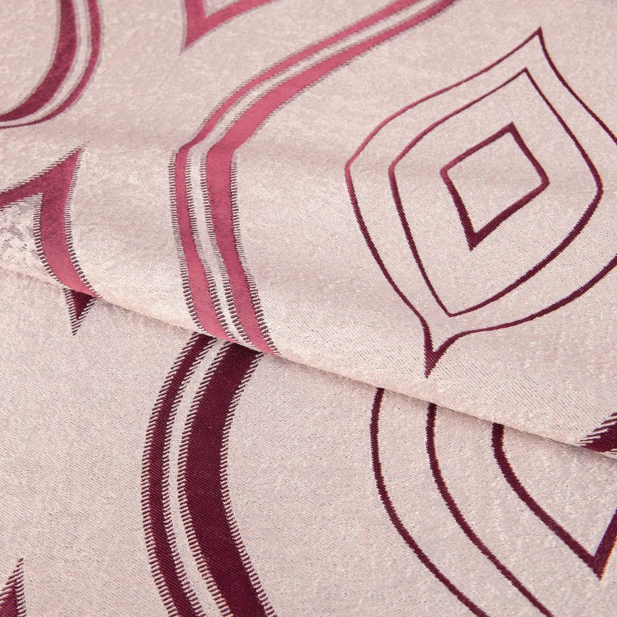 Ткань димаут «Витражный», 280 см, вензель, цвет бордовый
